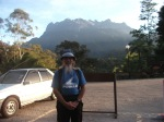 Berlatarbelakang Gunung Kinabalu